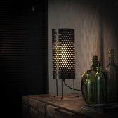 Dimehouse Industriële Vloerlamp - Bennet - 46 cm - Zwart - Kokervormig