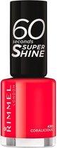 Rimmel London 60 seconds supershine nagellak - Coralicious - Coral- Red
