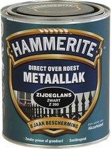 Hammerite Zijdeglans Metaallak - Zwart - 750 ml