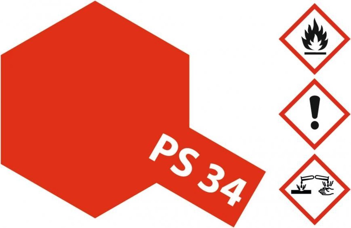 PS-34 Bright Red Polycarbonat 100ml