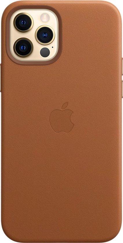 Apple leren hoesje met MagSafe - Voor iPhone 12 (Pro) - Zadelbruin