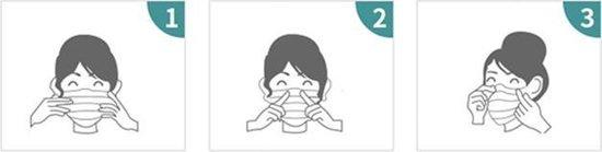 Blauw mondmasker Stylish Katoen mondkapje Wasbaar Excl. filters