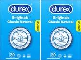Durex Condooms Classic Natural - 2 x 20 stuks