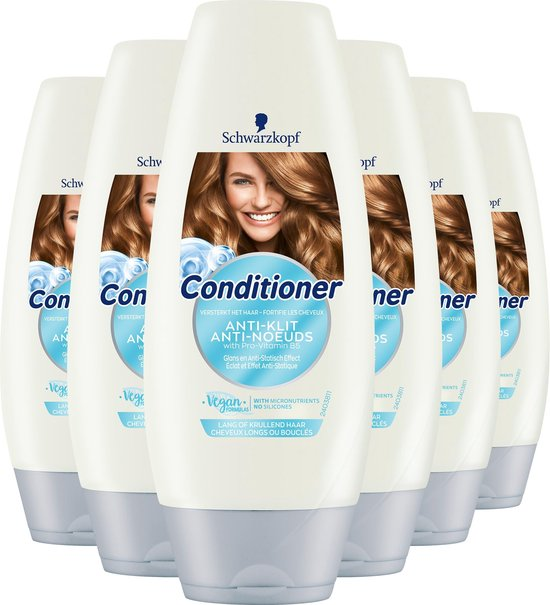 Schwarzkopf Anti-Klit Conditioner 6x 250 ml - Voordeelverpakking