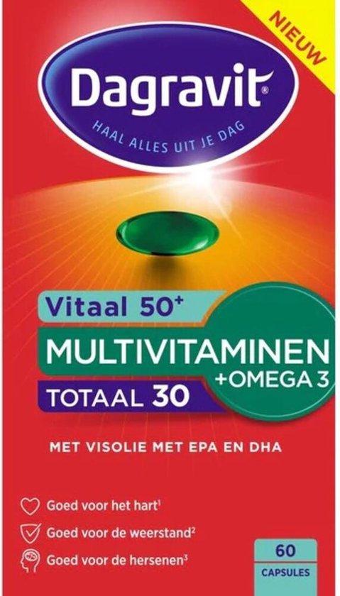 Dagravit Totaal 30 Vitaal 50+ - Visolie + Omega - 60 tabletten