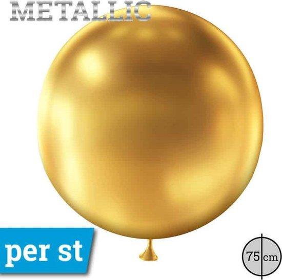Cattex reuze latex ballon | metallic | goud gold | 75cm
