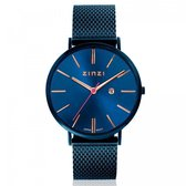 ZINZI horloge ZIW414M Retro - Blauw + gratis Zinzi armbandje