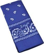 1x Blauwe boeren zakdoeken 54 x 53 cm - Zakdoekjes en bandanas