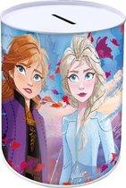 Disney Spaarpot Frozen Ii Meisjes 10 X 15 Cm Staal Blauw/paars