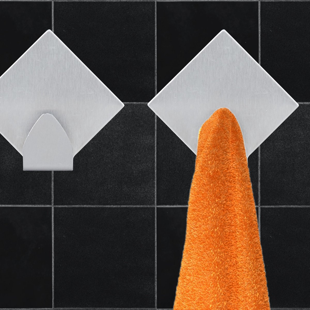 relaxdays zelfklevende ophanghaken - 10 stuks - wandhaken - keukenhaakje - handdoekhaakjes