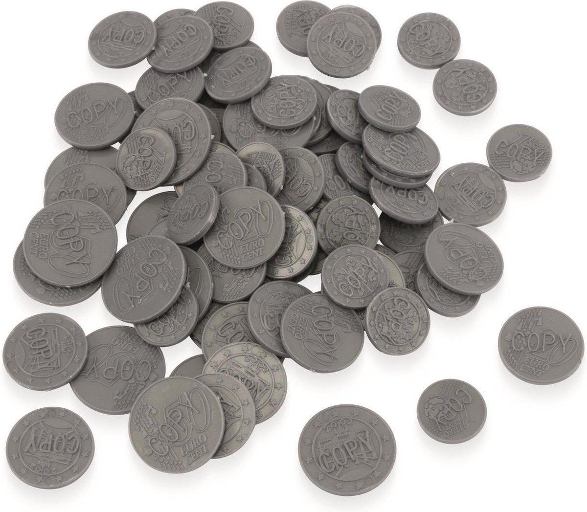 Speelgeld euro munten 100x stuks - kinder winkeltje spelen - speelgoed nepgeld - Merkloos
