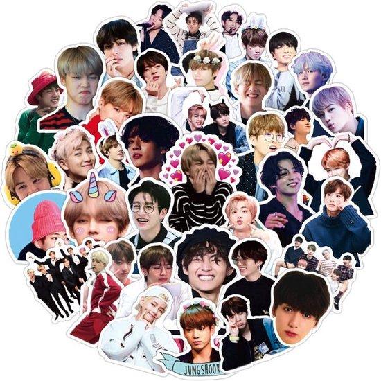 BTS - 50 BTS stickers - KPOP - BTS Kpop - BTS merchandise - BTS dynamite - BTS Kpop producten - BTS be - BTS album - BTS album be - Laptop stickers - Stickers kinderen - Stickers volwassenen
