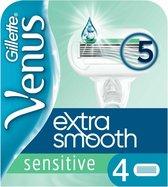 Gillette Venus Sensitive Extra Glad Scheermesjes Vrouwen - 4 stuks