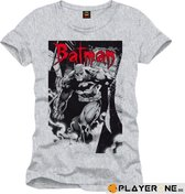 BATMAN - T-Shirt Goth Letter - Grey Melange (XXL)