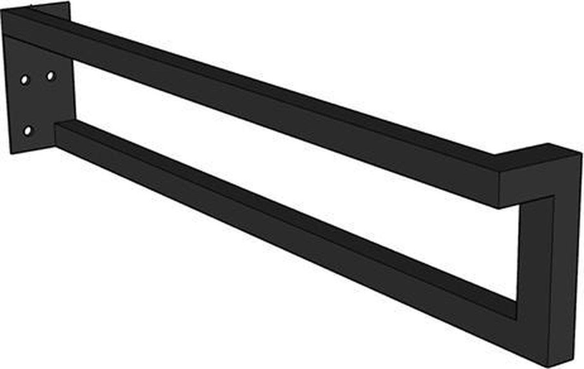 Royal plaza Merlot wastafelbladconsole L model rechts 44x9 mat zwart