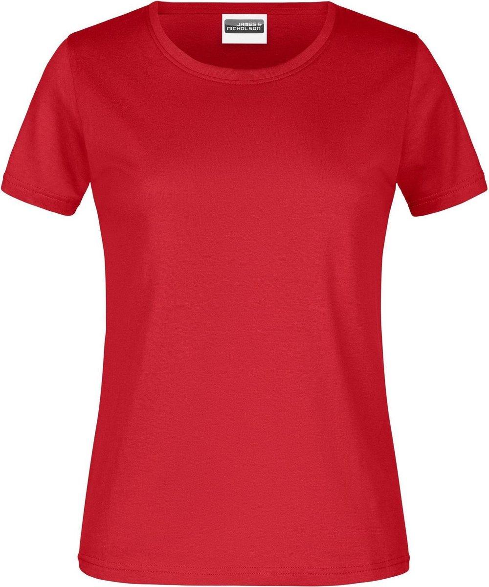 James And Nicholson Dames/dames Ronde Hals Basic T-Shirt (Rood)