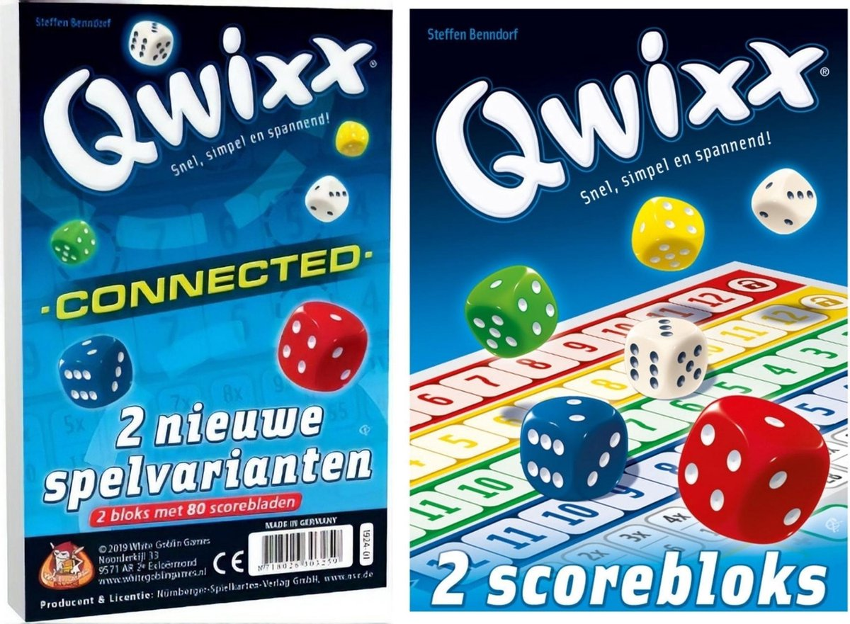 Scoreblokken Qwixx Connected & 2 extra scoreblocks