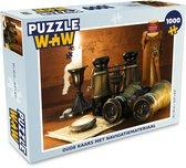 Puzzel 1000 stukjes volwassenen Ouderwets navigatiemateriaal 1000 stukjes - Oude kaars met navigatiemateriaal  - PuzzleWow heeft +100000 puzzels