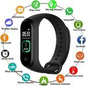 DrPhone K2 - Kids Smartwatch - Temperatuurmeter + Bluetooth Hartslagmeter met Bloeddruk - Fitness Tracker IOS / Android - Zwart