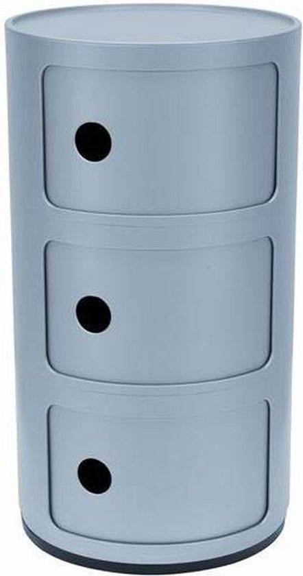 Kartell Opbergkastje Componibili Medium - Zilver