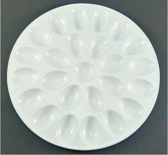 Eierschaal aardewerk voor 24 eieren 31cm