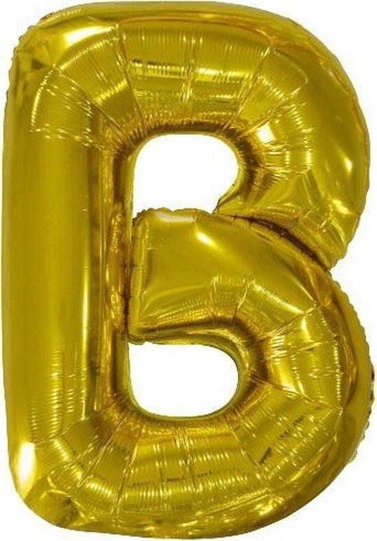 Amscan Letterballon B Folie 86 Cm Goud