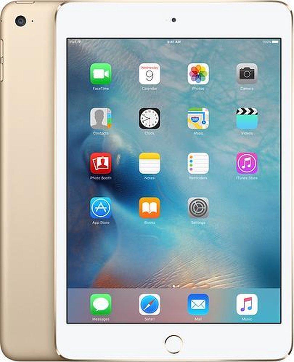 Apple iPad Mini 4   – 7.9 inch – WiFi + 4G – 16 GB – Goud – Refurbished door Leapp – B Grade (lichte gebruikssporen)