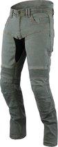JET - Motorbroek Spijkerboek - Kevlar Safety Broeken Aramide gevoerd CE - Protectie Stretch Panels Tech Pro (Grijs, W 40 L 34)