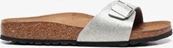 Birkenstock Madrid Dames Bio Slippers - Zilver Maat 39 tRvVok