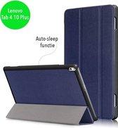 3-Vouw sleepcover hoes - Lenovo Tab 4 10 Plus - blauw