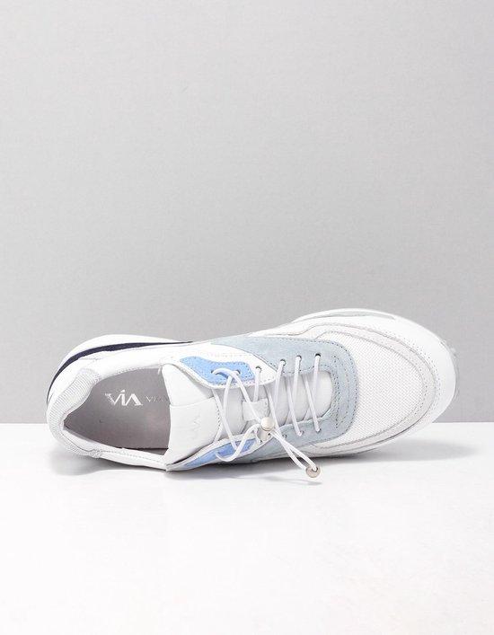 VIA VAI 5410002 Sneakers dames Maat: 39 wit 006 Vitello Ramos Bianco Iride leer x9xNKxdq