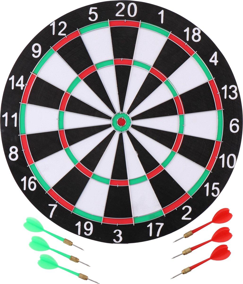 Masterdarts Dartbord - 40,5 cm - tweezijdig - met 6 darts