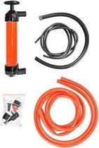 Olie/vloeistof lucht- en hevelpomp 2 in 1 - Siphon/sifonpomp - Auto garage materialen/gereedschap