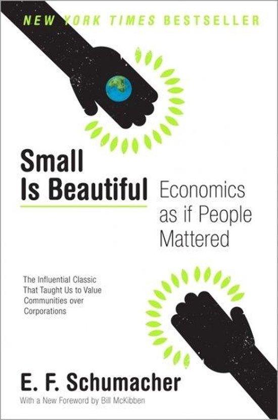 Boek cover Small Is Beautiful van E.F. Schumacher (Paperback)