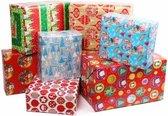 10x Kerst kadopapier/inpakpapier 200x 70 cm - cadeaupapier