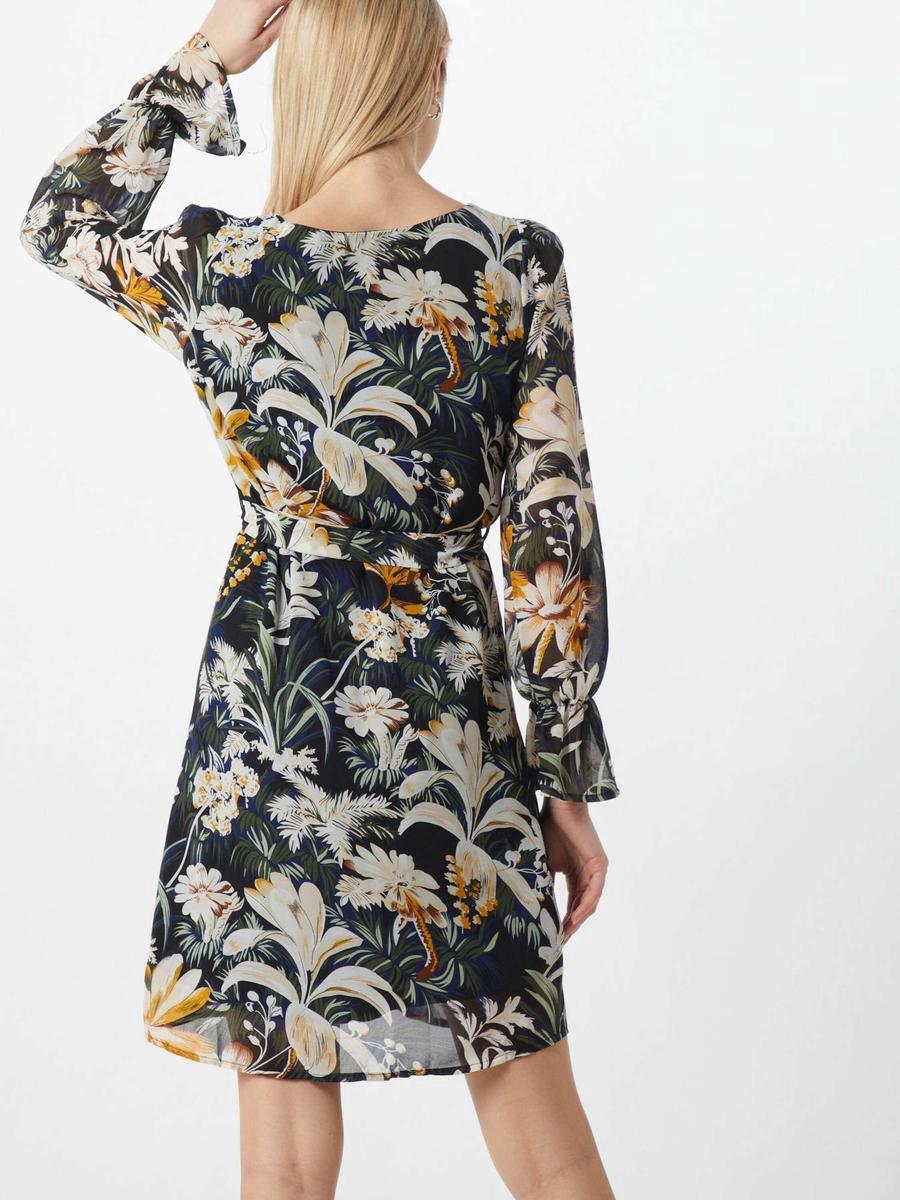 SisterS Point gebloemde semi transparante jurk Noki zwart