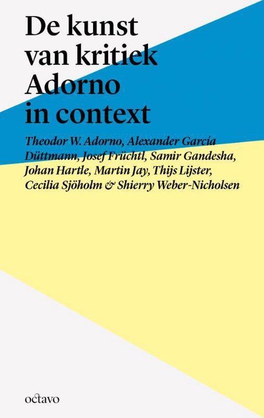 Tekst & context - De kunst van kritiek - Theodor W. Adorno | Readingchampions.org.uk