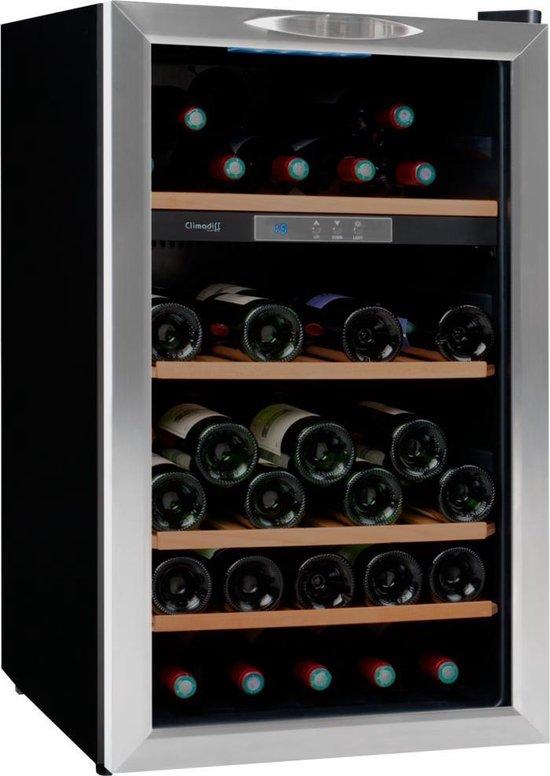 Koelkast: Climadiff CLS52 - Wijnklimaatkast - 52 flessen, van het merk Climadiff