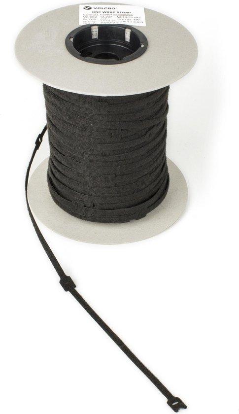 Klittenband kabelbinder 20mm x 200mm zwart, 750 stuks