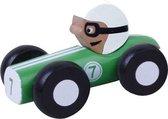 Jouéco Houten Raceauto 9 Cm Groen