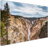 Yellowstone Verenigde Staten Canvas 60x40 cm - Foto print op Canvas schilderij (Wanddecoratie woonkamer / slaapkamer)