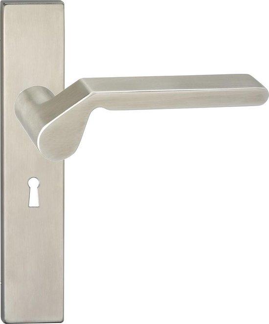 Impresso Boston Deurbeslag - Voor binnen - Vierkant deurschild met sleutelgat - RVS