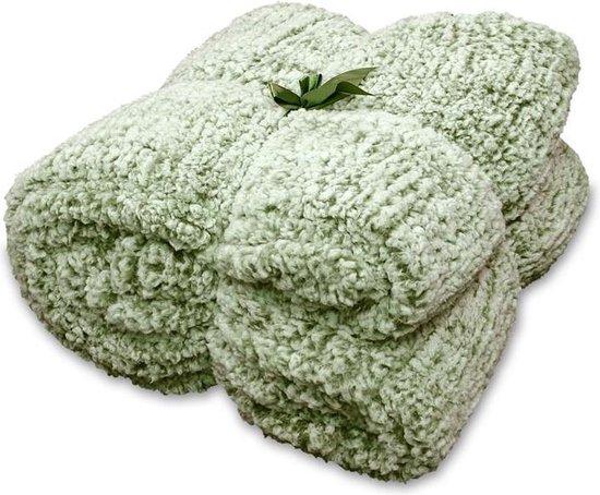 Unique Living Knut - Fleece - Plaid - 150x200 cm - Avocado Green