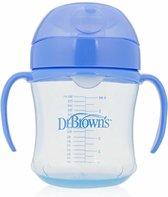 Dr. Brown's Oefen Drinkbeker - Met Zachte Tuit - Vanaf 6 maanden -180 ml - Blauw