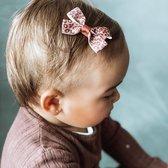 Haarspeldje met strik medium animal | Bruin, Zwart | Meisje