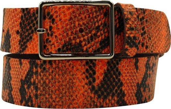 Oranje riem – Fluo Python Orange Dames riem – Broekriem Dames – Dames riem – Dames riemen – heren riem – heren riemen – riem – riemen – Designer…