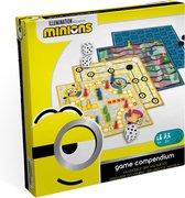 Minions 4-in-1 spellendoos : bordspellen : ladderspel - molenspel - dammen - ludo (mens-erger-je-niet)