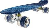 Sajan Skateboard - LED Wielen - 22.5 inch - Space Blauw - Penny Board - Diverse Kleuren