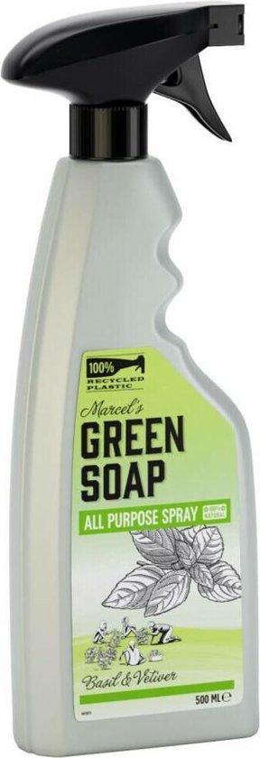 Marcel's Green Soap Allesreiniger Spray Basilicum & Vetiver Gras - 6 x 500 ml
