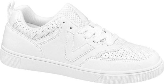 Graceland Dames Witte sneaker perforatie – Maat 42